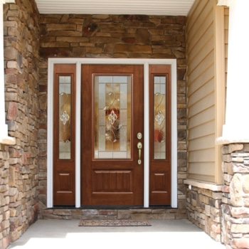 Entry Doors with Unique Art or Decorative Glass Boost Curb Appeal